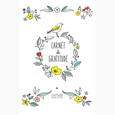 Carnet GRATITUDE coloris multicolore