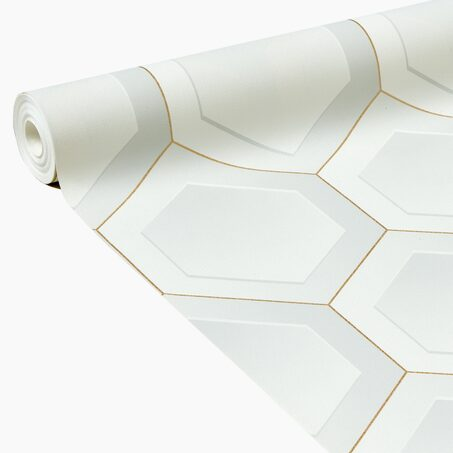 Non-woven wallpaper CLINT colour white