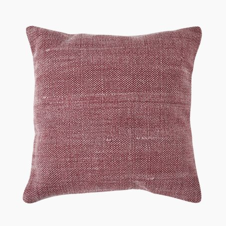 Coussin KELSO coloris burgundy 45 x 45 cm