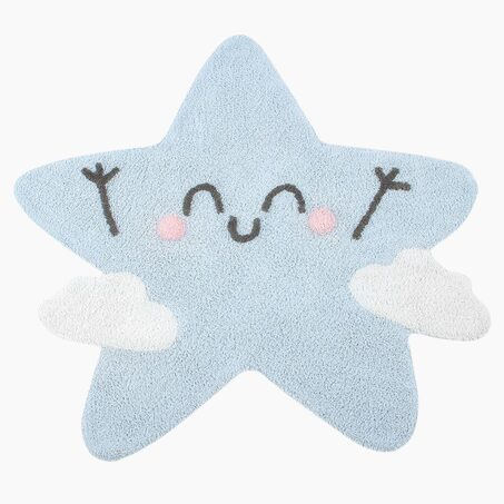 Tapis HAPPY STAR coloris bleu