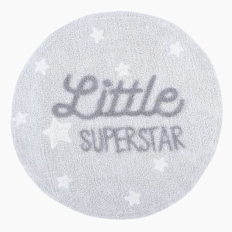 Tapis LITTLE SUPERSTAR coloris gris