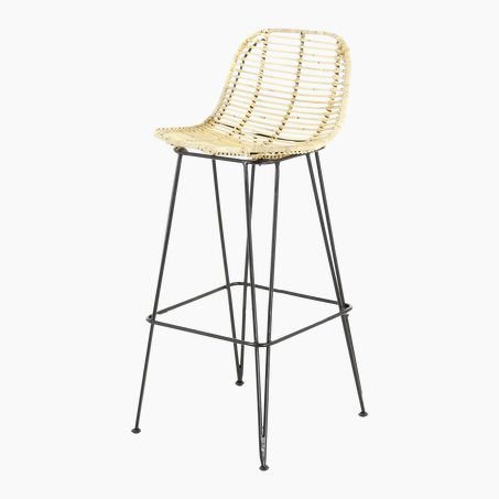 Tabouret FRESH coloris rotin