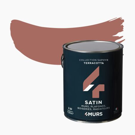 Peinture Multi-supports SAPHYR Alkyde terracotta Satiné 2,5 L