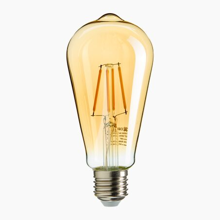 Light bulb FILAMENT PEAR-SHAPED BULB AMBER - 40W E27 colour yellow 14 x 6 cm