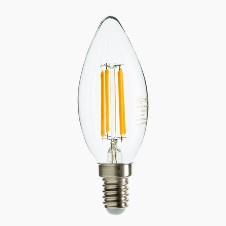 Light bulb LED FLAMME 35W E14 35 mm colour yellow 10.5 x 3.5 cm
