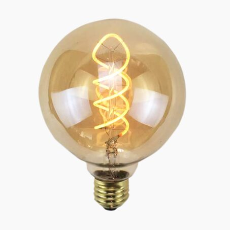 Ampoule GLOBE AMBRE FILAMENT LED 25W E27 95 mm coloris jaune 14 x 9,5 cm