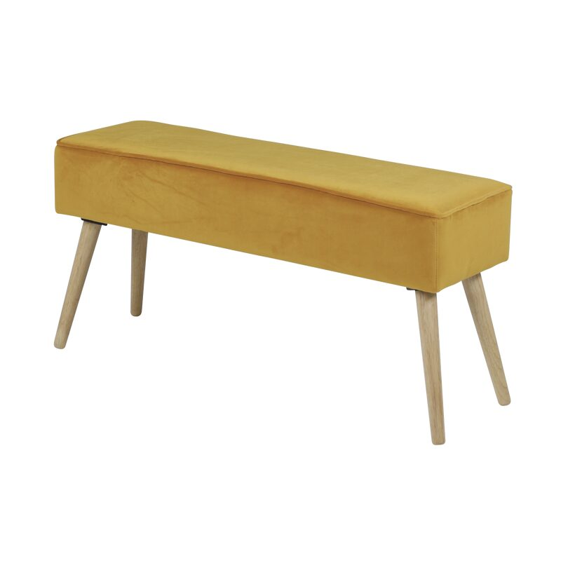 Banc POPY coloris moutarde