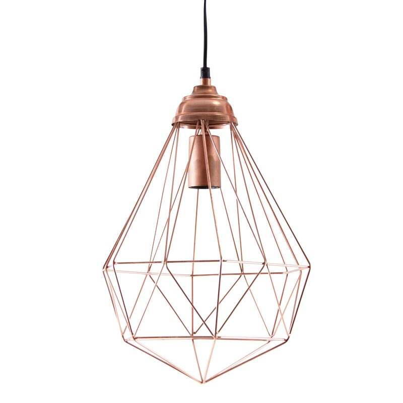 Suspension BUNDAVER coloris cuivre rose 42 x 30 cm