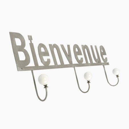 Wall hook BIENVENUE colour grey