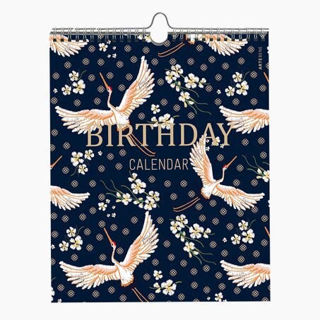 Calendrier ASIAN BIRDS coloris bleu