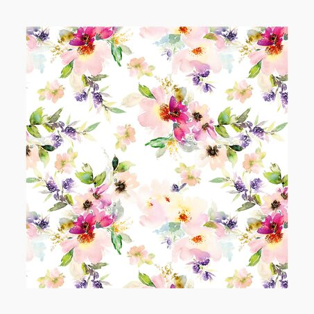 Serviette en papier LOVELY FLOWERS coloris blanc