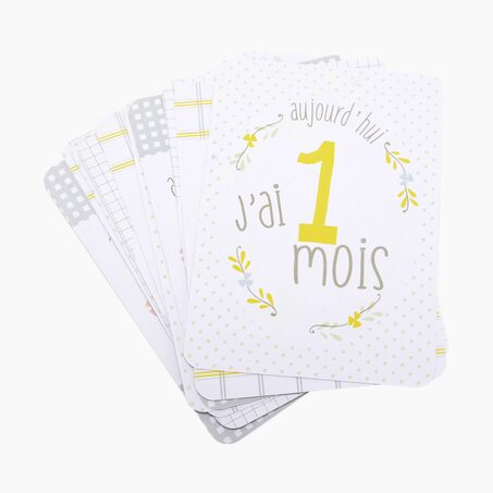 Carte HAPPY FIRST YEAR coloris blanc