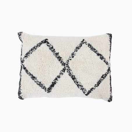 Cushion FARAH colour ivory 30 x 50 cm