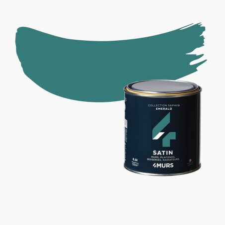 Peinture Finition SAPHYR Alkyde emerald Satiné 0,5 L
