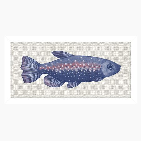 Tableau SEA FISH 14 x 30 cm