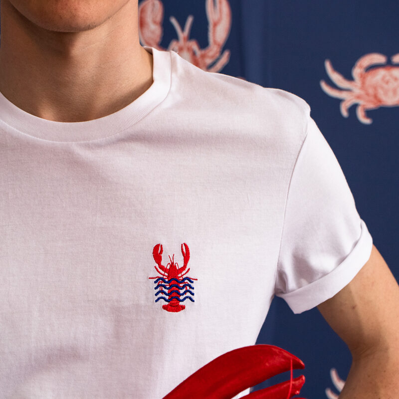 Tee-shirt MISTER LOBSTER M coloris blanc