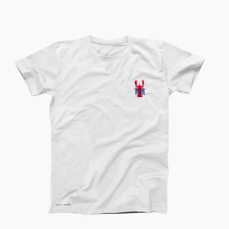 Tee-shirt MISTER LOBSTER S coloris blanc