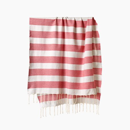 Fouta CHILL coloris rouge
