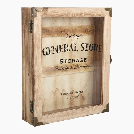 Key box GENERAL STORE colour wood