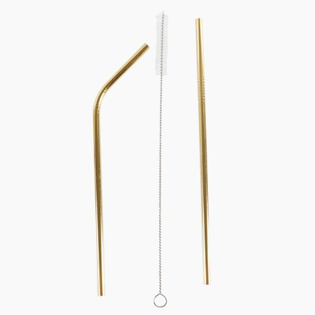 Straws GOLDEN STRAW colour gold