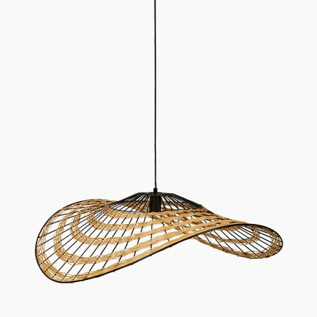 Pendant light LOUISIANE colour straw 29 x 80 cm