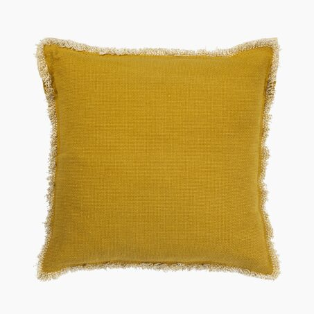 Cushion BURTA colour mustard 45 x 45 cm
