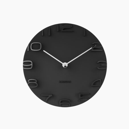 Clock LEO colour black