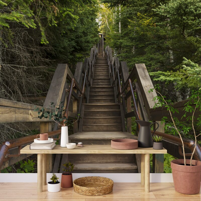 Poster extra large NATURAL STAIRS 280 x 300 cm