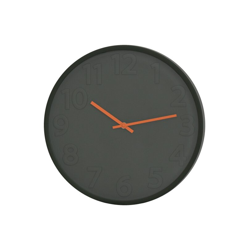 Horloge ADEN coloris Kaki et orange