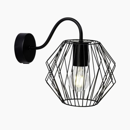 Wall light NORIS colour black 23.5 x 19.6 cm