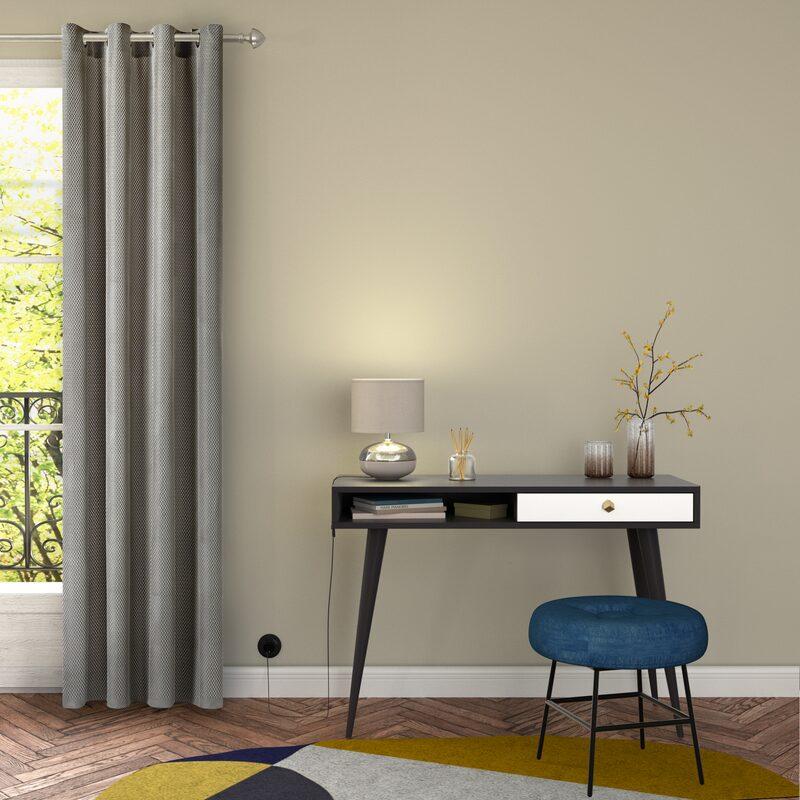 rideau chastelain coloris gris clair 140 x 240 cm