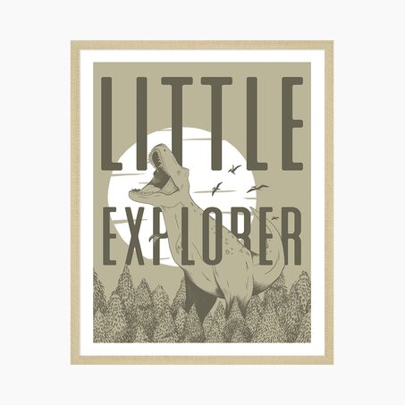 Tableau LITTLE EXPLORER coloris kaki