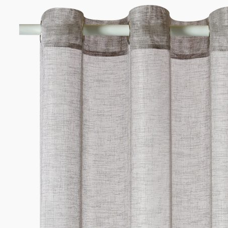Voile panel CANOAS colour grey 140 x 260 cm