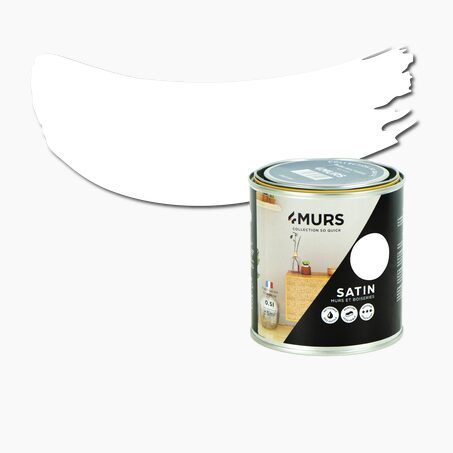 Paint SO QUICK Acrylic white Satin 0,5 L