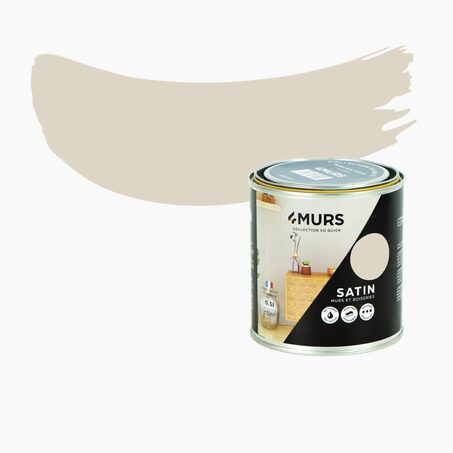 Peinture SO QUICK Acrylique lin pur Satiné 0,5 L
