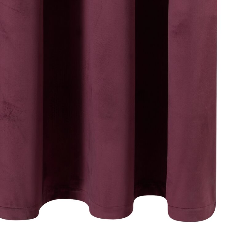 Rideau NEGRESCO coloris lie de vin 140 x 260 cm