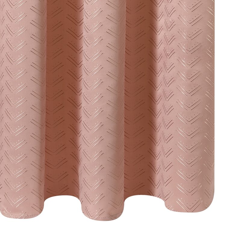 Rideau GIULIANO coloris rose blush 140 x 260 cm