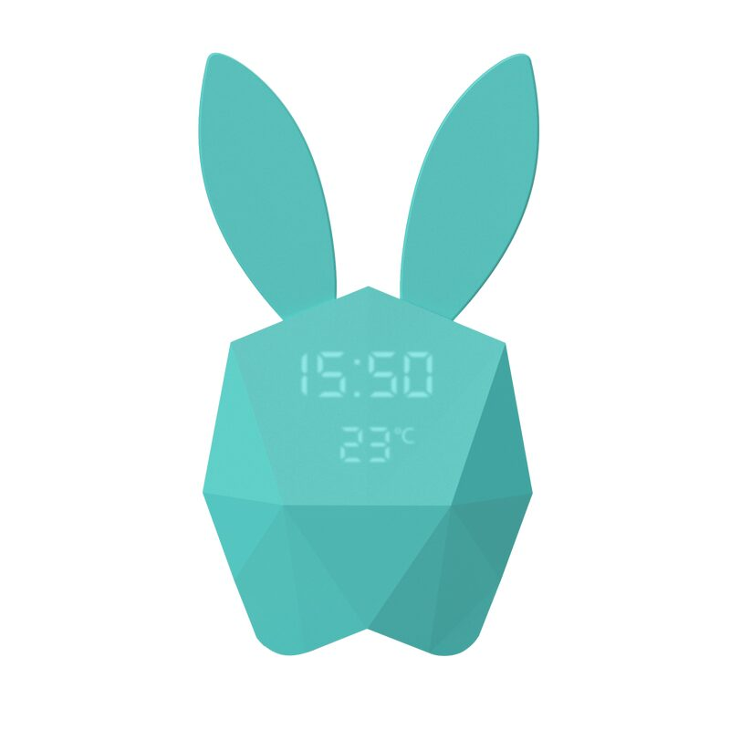 Réveil CUTTY CLOCK RABBIT coloris Bleu