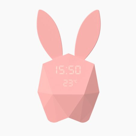 Réveil CUTTY CLOCK RABBIT coloris Rose